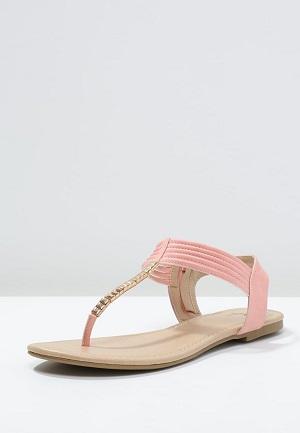 Pink sommersandal