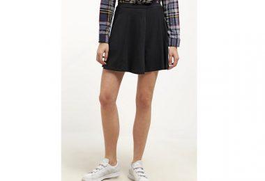 Mini skirt i sort forside