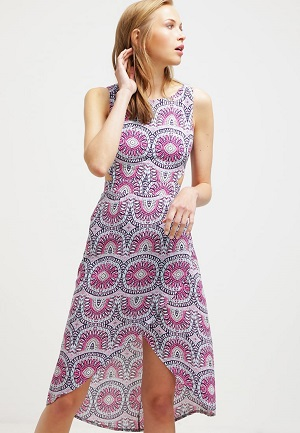 Farverig sommerkjole til kvinder