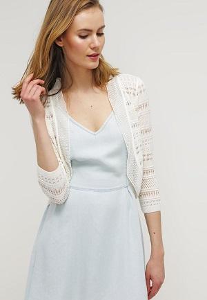 Hvid bolero til kjole