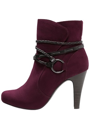 Smarte bordeaux sko til kvinder