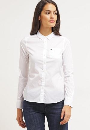 Klassisk hvid skjortebluse til damer
