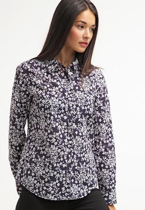 Skjortebluse til kvinder med blomster