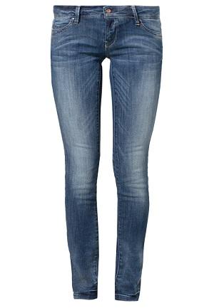 Slim jeans til kvinder i blå