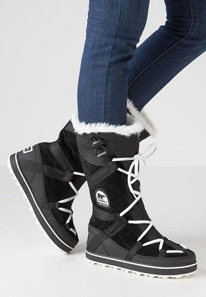 Sorte vinterstøvler til kvinder